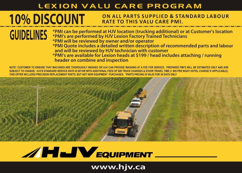 CLAAS combine maintenance program hjv equipment