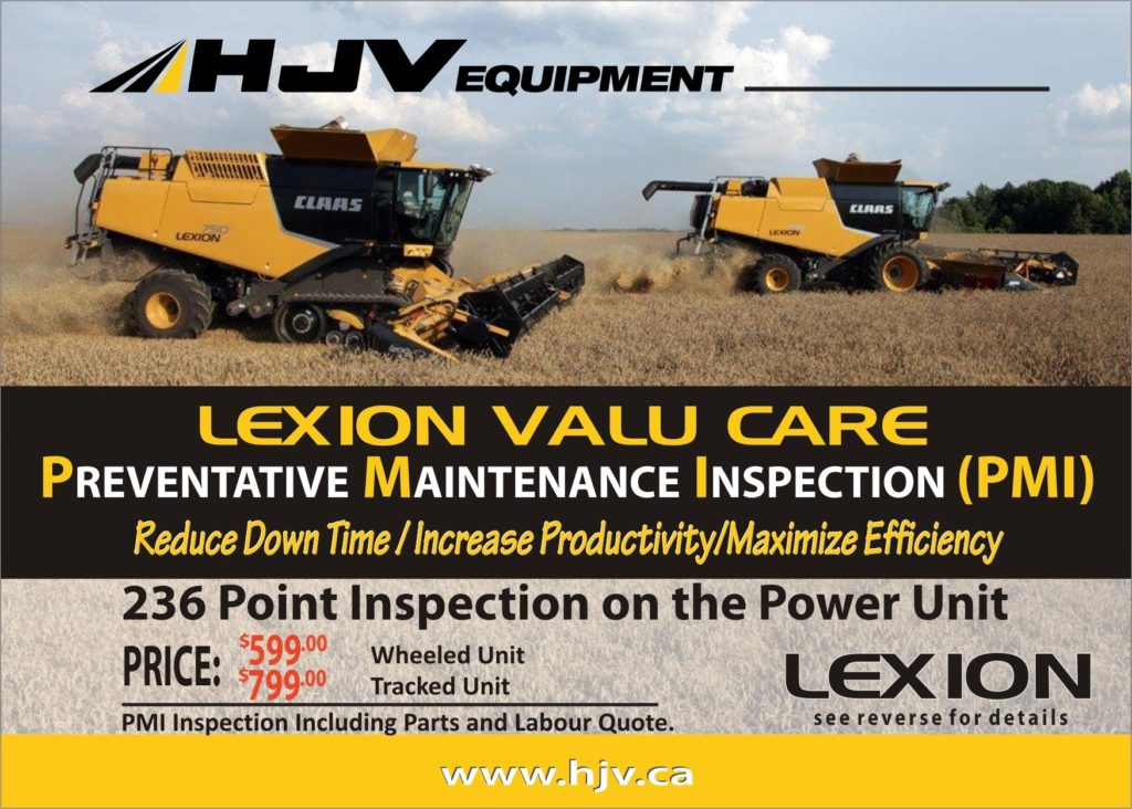 CLAAS combine maintenance program with hjv equipment