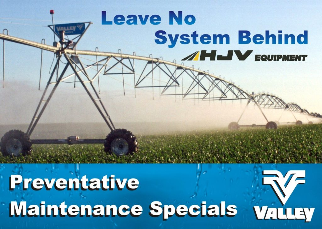 valley irrigation maintenance with hjv equipment